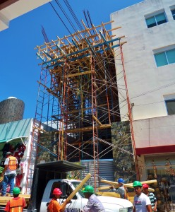Condo building on 5th being added onto.