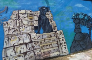 Sreet art, graffiti, Playa del carmen, Mexico