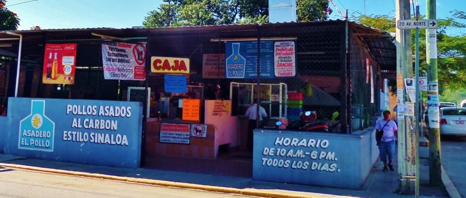 roast chicken, Playa Del Carmen
