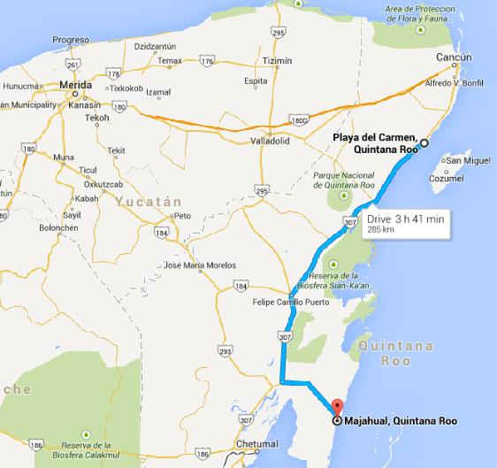Mahaual map