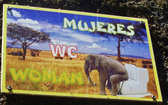 Funny spanglish signs in Playa Del Carmen Mexico