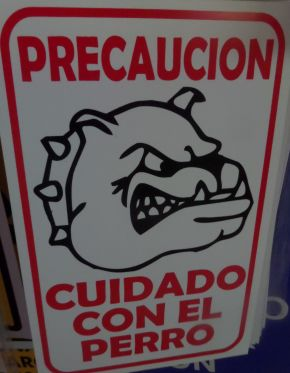 Funny sign in Playa Del Carmen