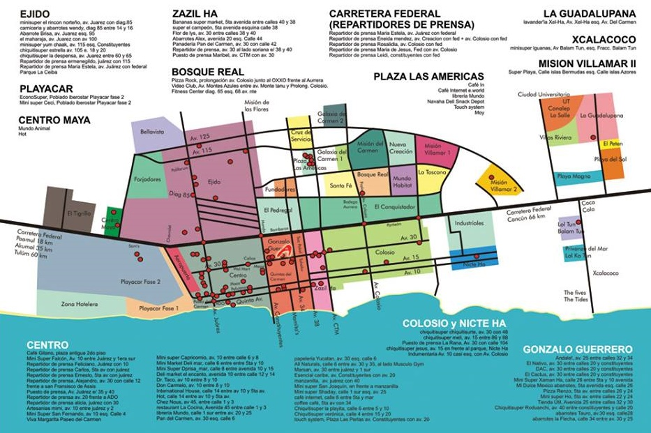 Playa Del Carmen Maps and Helpful Guides on balboa park map, mountain view map, puerto rico map, solana beach map, old town map,