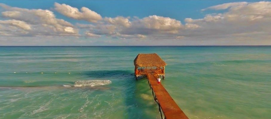 Aerial drone Photo of Playa Del Armen