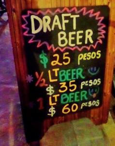 Beer Bucket Bar in Playa Del Carmen