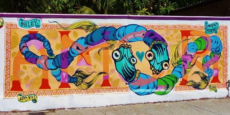 Street art Playa Del Carmen Mexico