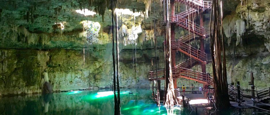 Cenote Maya Park and cenote Maya