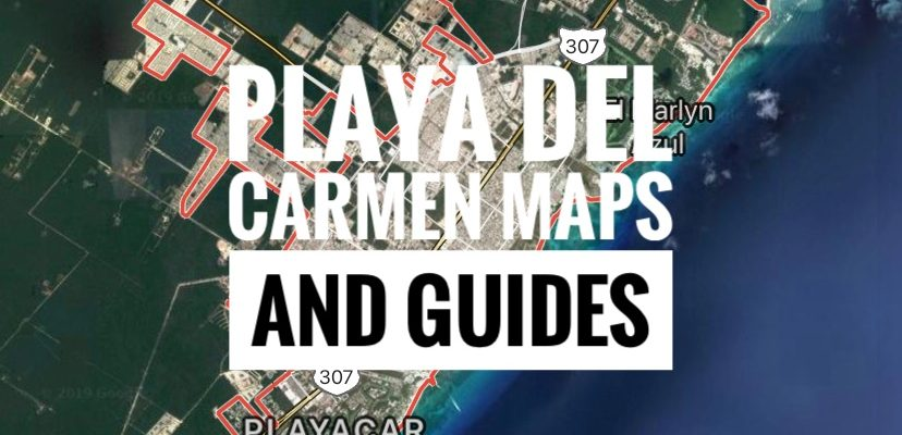 art de Playa del Carmen 12 «X 18» Modern Map Art Carte de Playa del Carmen Électronique Accessoires