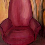 Red Chair - pastel (SOLD)