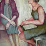 Drawing Closer - oil