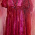 Red Dress - oil