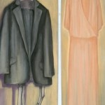 Wedding Clothes - pastel on paper