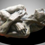 Man With Crossed Hands (side view) - hydrostone - 9x17x11