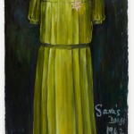 Sara's Dress - oil on paper