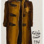 Zelig's coat - oil on paper