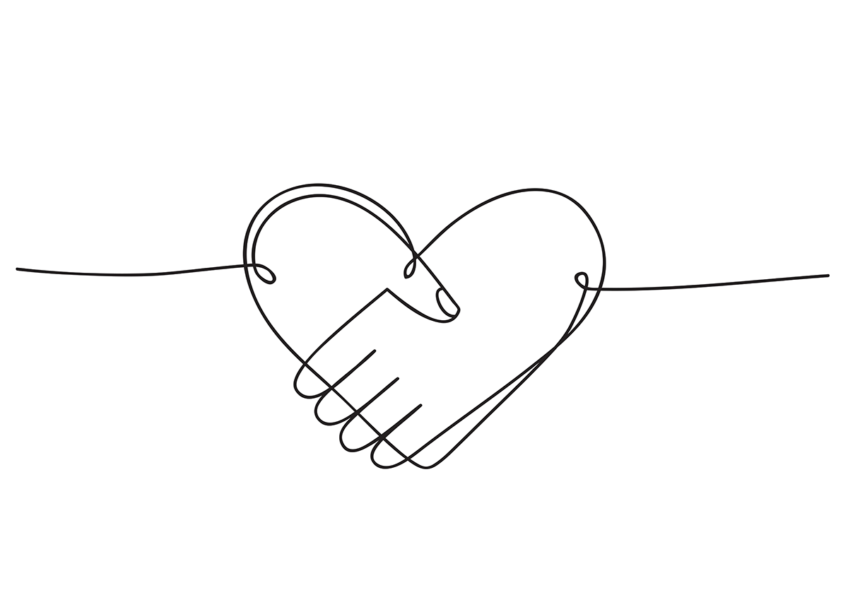 Connected Hands Form Heart