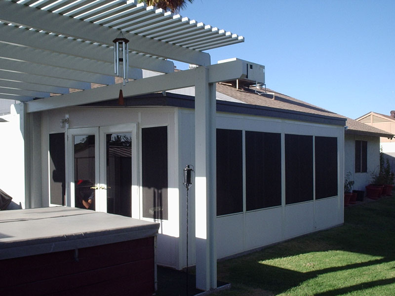 patio enclosure white