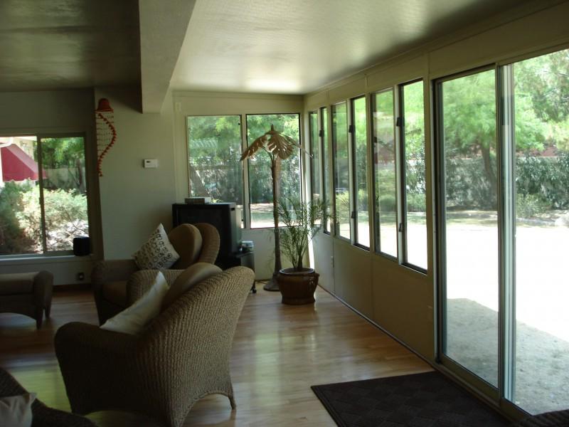 patio enclosure lounge chair