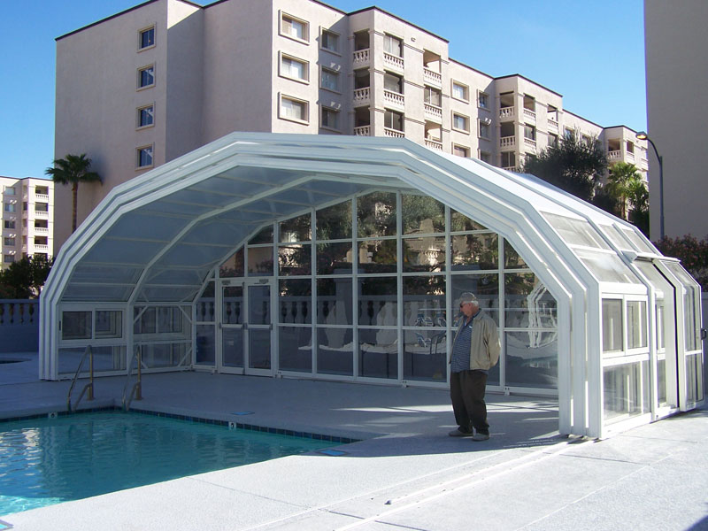 LIBART Retractable pool enclosure in Scottsdale Az