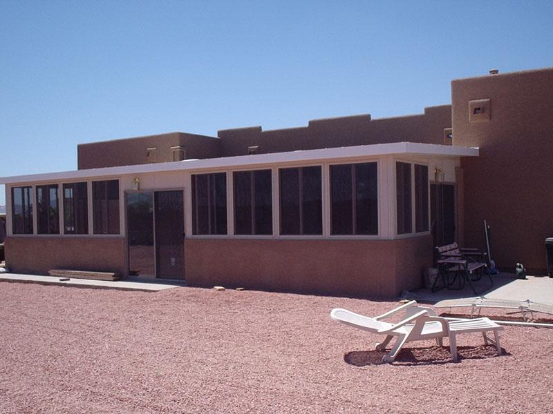 Patio enclosure under existing patio roof. Cave Creek Arizona