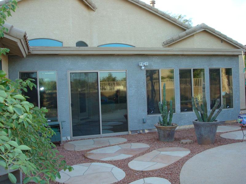 patio enclosure under existing patio roof. Goodyear Arizona