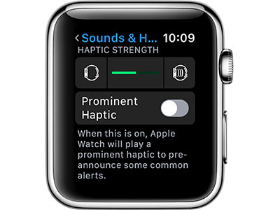 'Prominent Haptic' Notifications