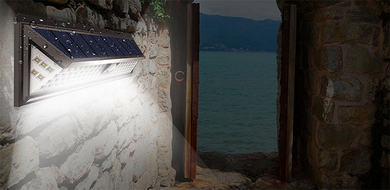 solar light with motion detector