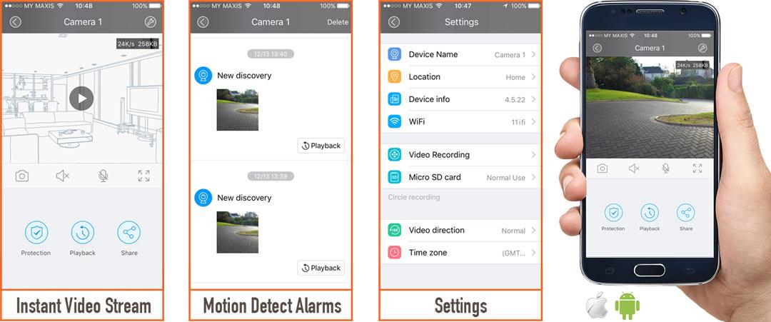 solar surveillance camera app