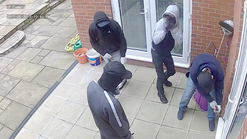 cctv camera help catch burglar