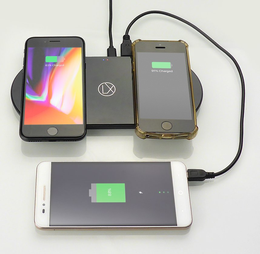 dual wireless charging station