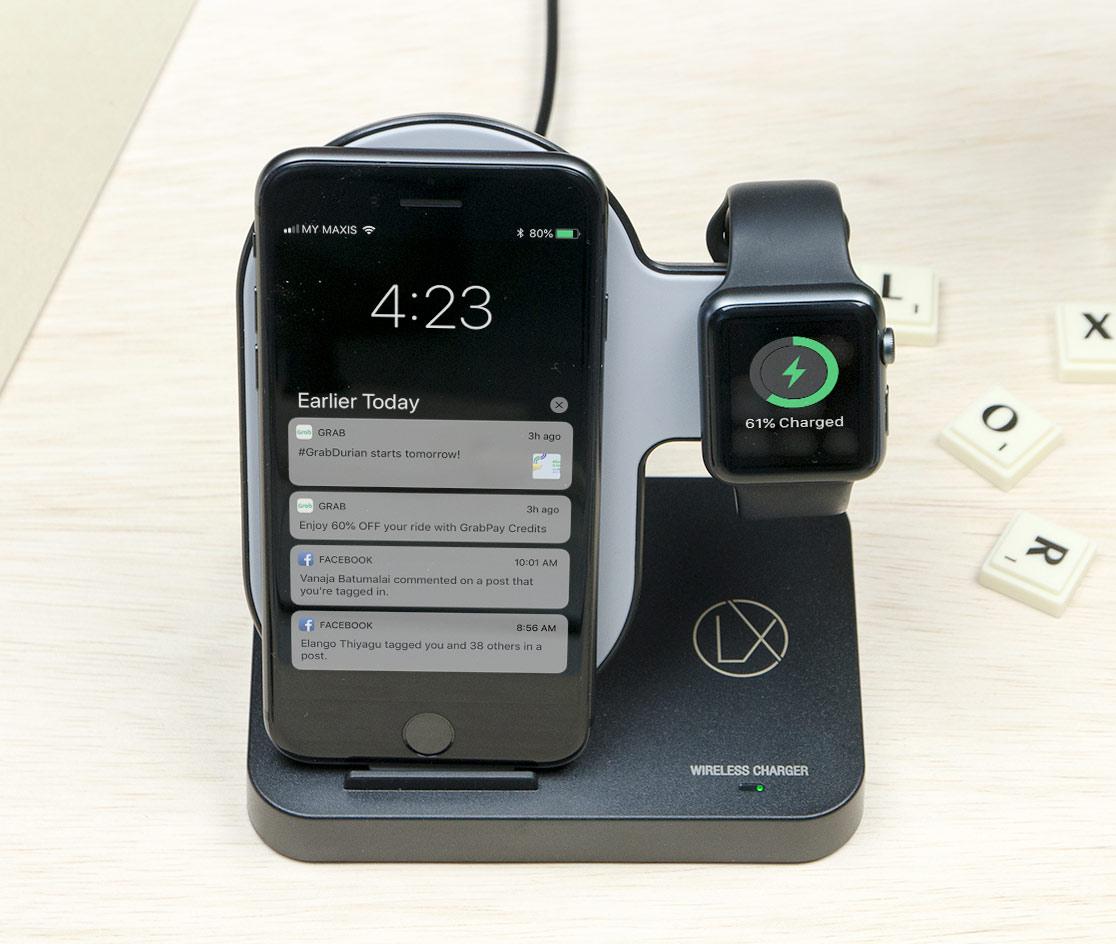 LXORY wireless charging stand