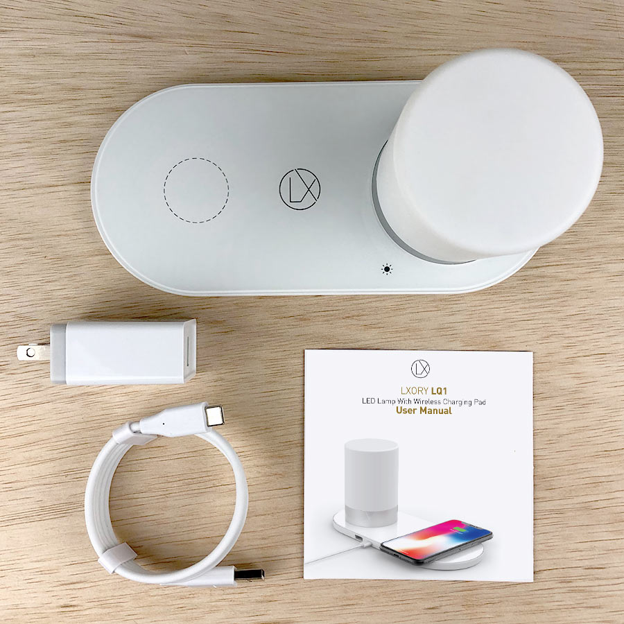 led lamp with wireless charging pad