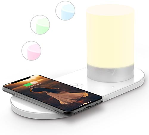lxory led lamp with wireless charger