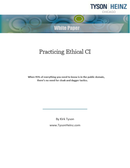 Practical ethical competitive intelligence white paper