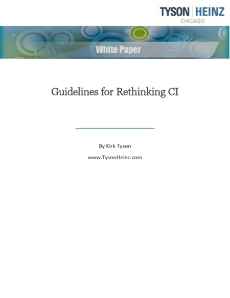 Guidelines for rethinking competitive intelligence white paper