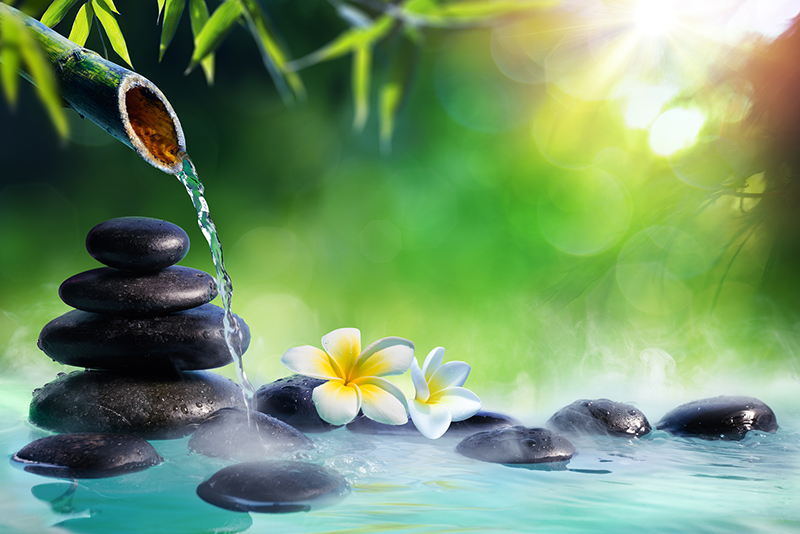 Beautiful water over rocks; pain clinic in Vancouver, Washington, Shān Dào Acupuncture.