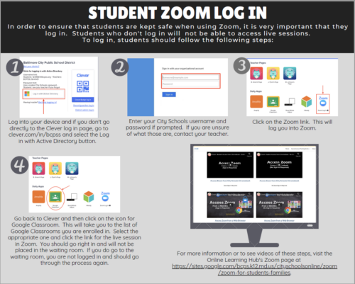 Student Zoom Log in