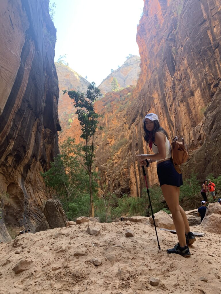 Hiking the Narrows in Zion