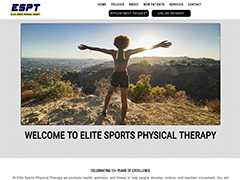 Elite Sports Physical Therapy website