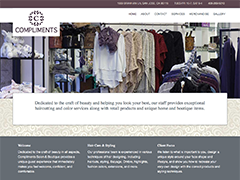 Compliments Salon & Boutique website