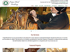 Proper Wood Finishing website