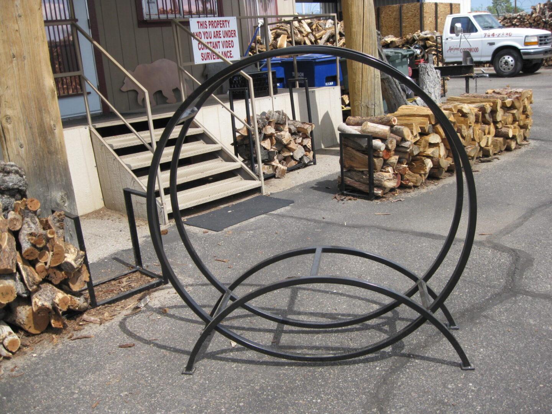 Wood rack and chimenea 001