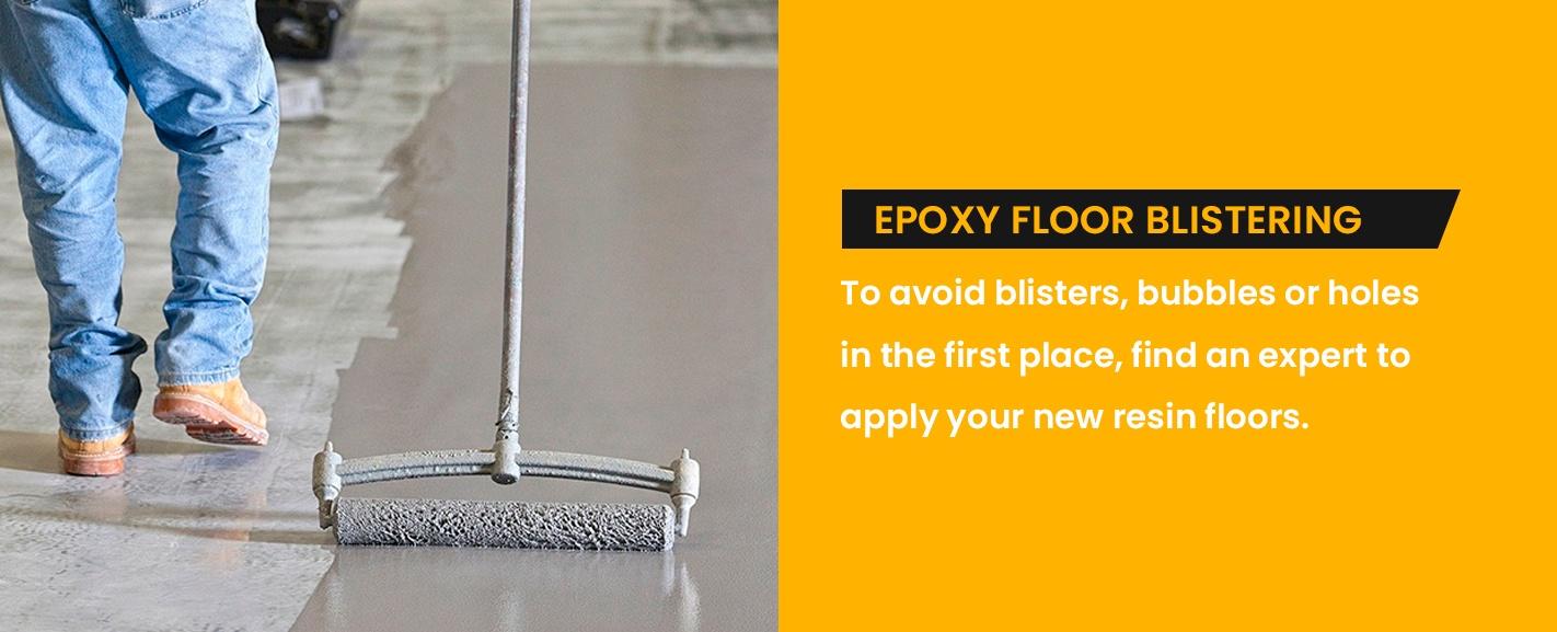 Epoxy Floor Blistering