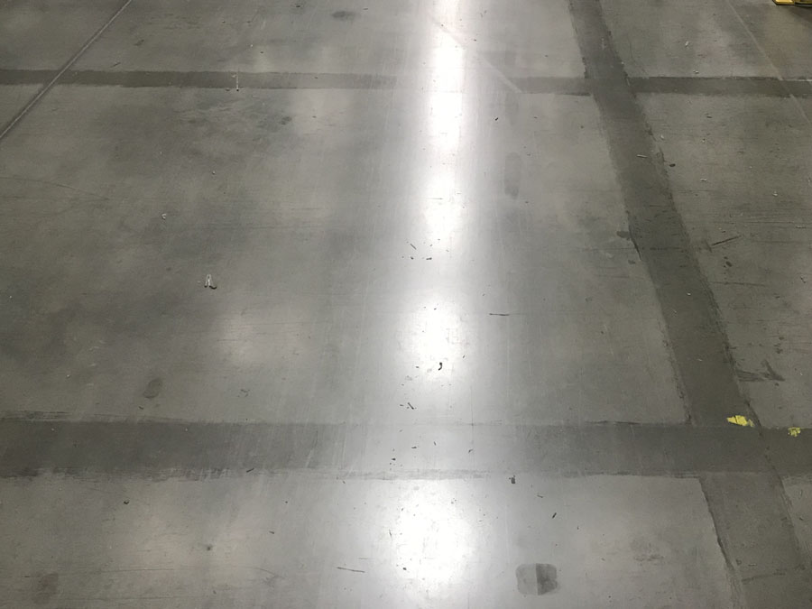 Floor where lines have been removed