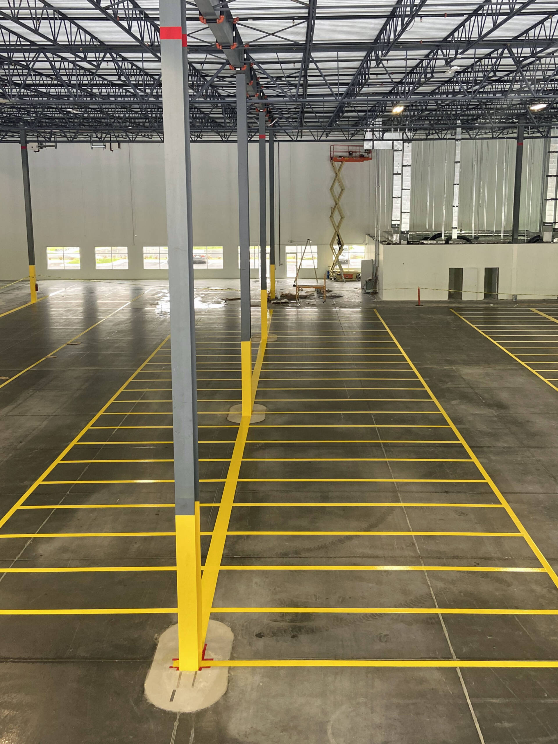 Warehouse Floor lines from above