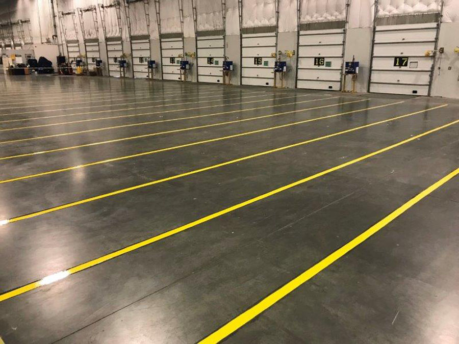 Warehouse floor lines
