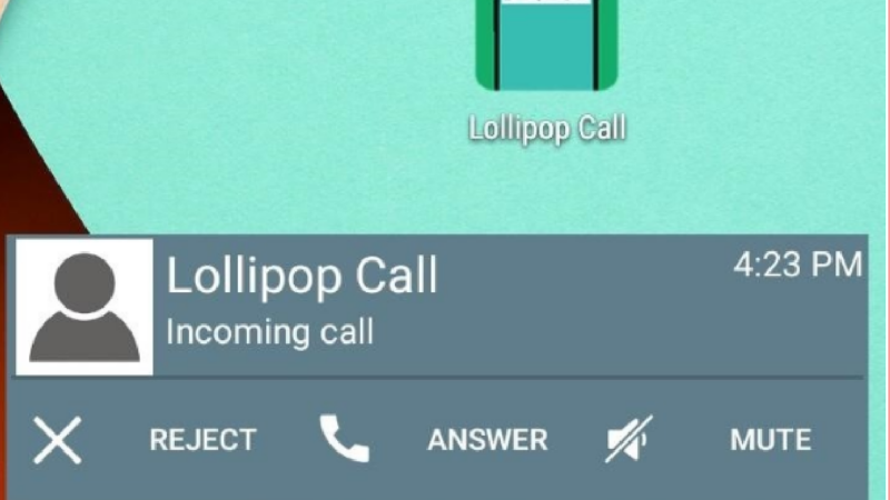 Lollipop Call App