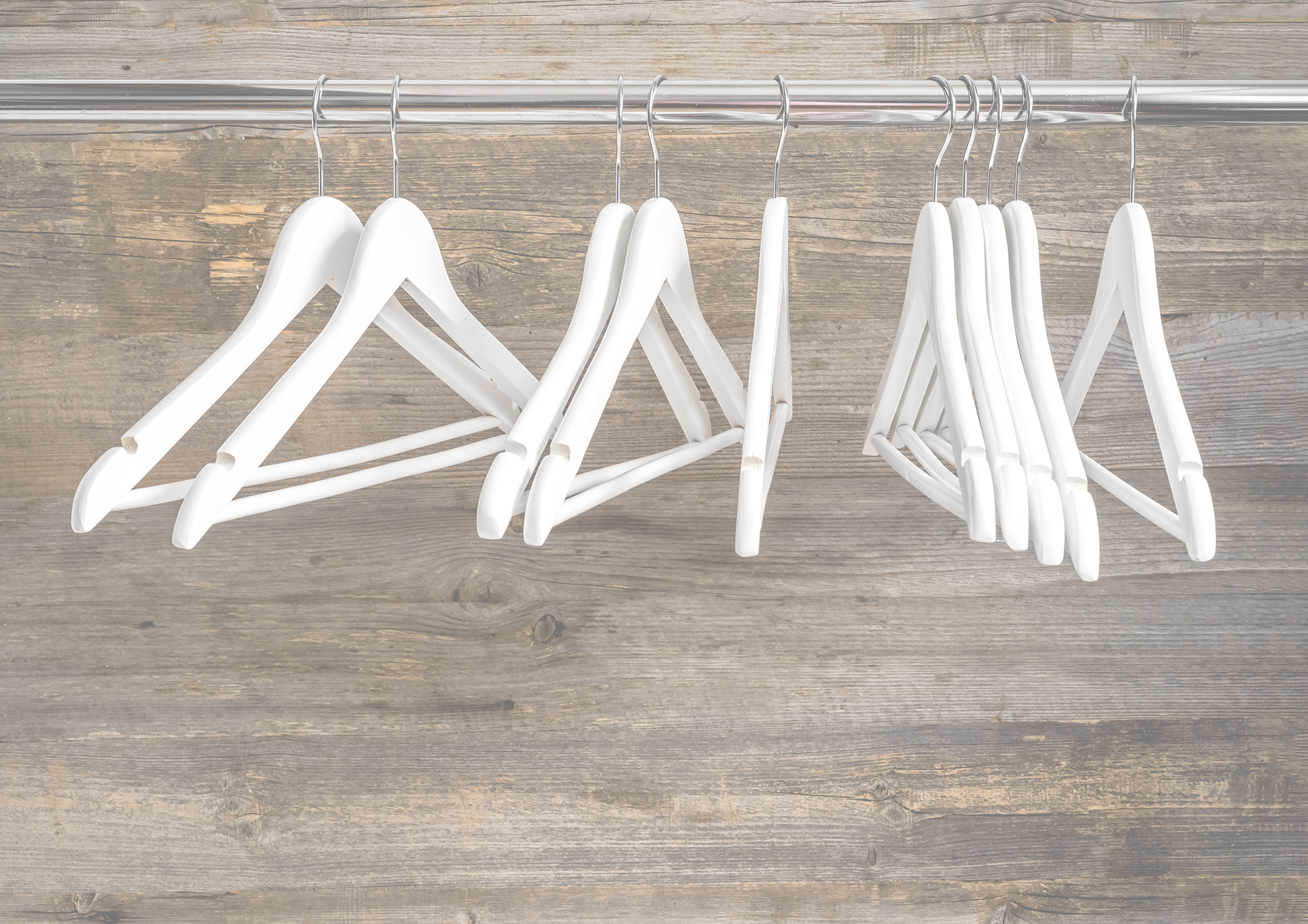 empty hangers from out of business store