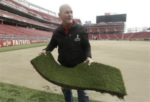 Ed Mangan talks about sod for the super bowl.