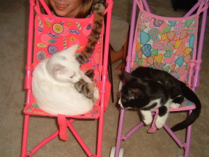 Kimba and Hiro playing their favorite baby game.